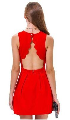vestido feminino em crepe vermelho festa/casual importado
