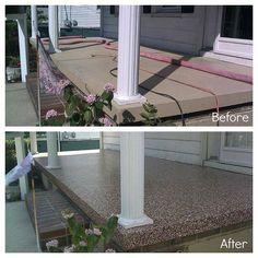 1000 images about deck ideas on pinterest decks for Concrete front porch paint ideas