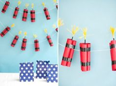 @jordanferney made 4th of July Dynamite Garland. Wouldn't this be a fantastic project to complete with the kiddos? /ES