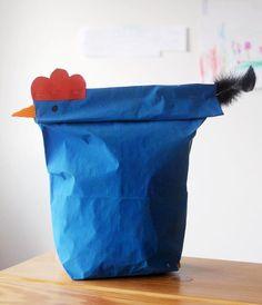Hen or paper bag?