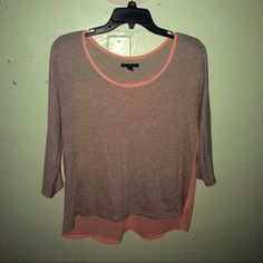 American Eagle Blouse Only worn 1 time.  No rips, tears, or stains! This is the cutest shirt ever and would look perfect on anyone! ☺️ The color of it is actually peach not orange!  Cheaper on Mercari American Eagle Outfitters Tops Blouses