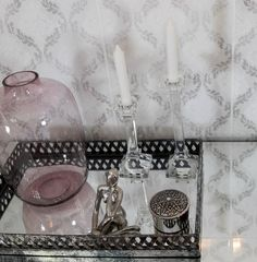Tiles can be a striking alternative to wallpaper. Tile a full wall with a delicately patterned décor tile for an easy to clean feature wall. Pair with elegant accessories for maximum effect. Feature Walls, Trendy Home, Design Trends, Floors, Tiles, Alternative, Make It Yourself, Elegant, Wallpaper