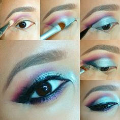 Ideas for holiday makeup asian eyes - Makeup Looks Yellow Eyeliner Make-up, How To Do Eyeliner, Eyeliner Styles, Eyebrows, Eyeshadow, Eyeliner Ideas, Coral Eye Makeup, Eye Makeup Red Dress, Eye Makeup Art