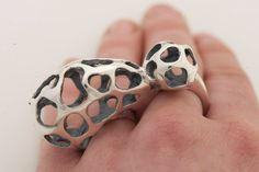2 Finger Ring | Peggy Skemp.  Sterling silver.