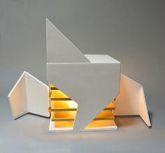 Folding Light (An interactive light sculpture) by michael jantzen Architecture Pliage, Folding Architecture, Architecture Presentation Board, Concept Architecture, Interior Architecture, Cubes, Cube Design, Interior Decorating, Interior Design