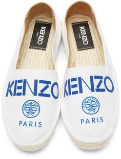 6f28553cdb Kenzo - White Paris Espadrilles Loafer Sneakers, Sneaker Boots, Loafers,  Kenzo Clothing,