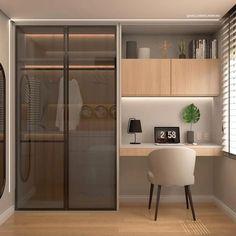Small Room Design Bedroom, Study Room Design, Bedroom Cupboard Designs, Wardrobe Design Bedroom, Bedroom Furniture Design, Room Ideas Bedroom, Home Room Design, Home Office Design, Home Decor Bedroom