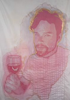 Amazing Art On Cloth With Red Wine
