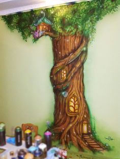 дерево рисунок на стене - Поиск в Google