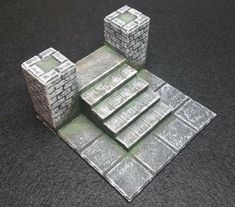 DnD Castle Ravenloft - Start Tile Stairs by MasterQuiaboshi Outside Stairs, Tile Stairs, Dungeon Tiles, Game Terrain, Mini Craft, Table Games, Dungeons And Dragons, 3d Printer, Decorative Boxes