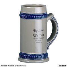 Retired Warden Beer Stein