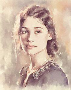 """Astrid Bergès-Frisbey"" | digital watercolor"