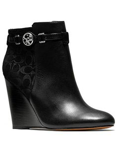 COACH SAFIRA BOOTIES - Coach Shoes - Handbags & Accessories - Macy's