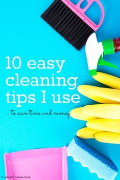 These easy cleaning tips may not change your life, but they sure do save me time and money on cleaning my home! Because no one wants to clean the kitchen or the bathroom all day long :)