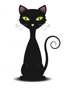 Simple Cat Drawings | Cartoon cats this is a black cat