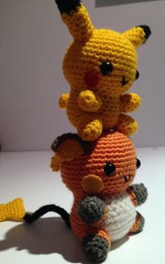 Raichu was created for a friend of mine, who saw my adaptation of @53stitches Pikachu Pattern and requested a big brother version. Hopefully this pattern makes sense…. [[MORE]]Please note that I'm...