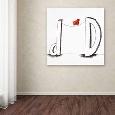 Trademark Fine Art D is for Dog Canvas Art by Carla Martell, Size: 24 x 24, Multicolor