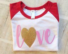 Girls valentines shirt valentines shirt by emilyquinndesign