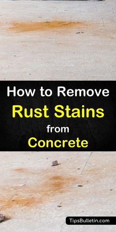 Don't let rust stains on your concrete surfaces ruin the look of your home. Learn how to remove rust stains from concrete with a few simple ingredients. Deep Cleaning Tips, House Cleaning Tips, Cleaning Solutions, Spring Cleaning, Cleaning Hacks, Cleaning Recipes, Cleaning Supplies, How To Clean Rust, How To Remove Rust