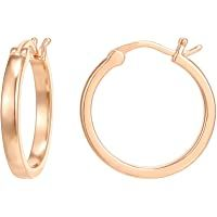 PAVOI 14K Gold Plated 925 Sterling Silver Post Lightweight Hoops | Gold Hoop Earrings for Women Cuff Earrings, Gold Hoop Earrings, Gold Hoops, Best Amazon Products, Rose Gold Plates, Jewelry Collection, Amazon Website, Fashion Jewellery, Sterling Silver