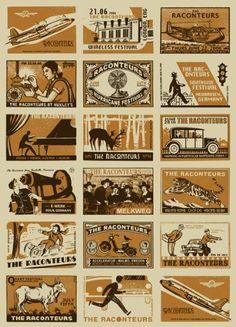 RACONTEURS europäischen Tour 2006 LIMITED EDITION Siebdruck Print Musik Poster