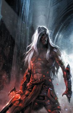 Elric by Francesco Mattina. Cover art of Elric The Balance Lost, issue 6