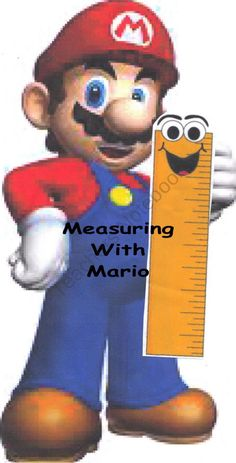 Measuring With Mario product from Homeschool-Mom-Shop on TeachersNotebook.com