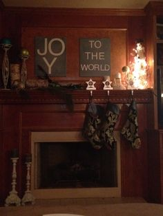 DIY Holiday Art - perfect over the fireplace