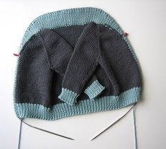 Sweater Techniques Series – Gramps Baby Cardigan – 5 / 6 : Shawl Collar and Button Band   Tin Can Knits