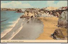 Great Western Beach, Newquay, Cornwall, 1962 - Harvey Barton Postcard
