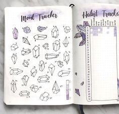 the cutest little crystal art from @amandarachdoodles's bullet journal!