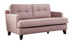 LC21512BR Eden Loveseat with Button-tufting Detail Soft Chenille Fabric and Tailored with Crisp Piping in Brown