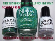ThePolishHoochie: 400 Followers Giveaway!!!    http://thepolishhoochie.blogspot.com/2012/09/400-followers-giveaway.html#