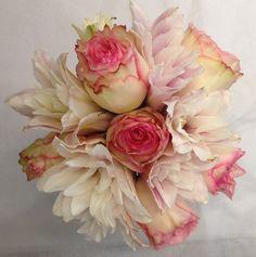 A simple wedding bouquet with a feminine feel.- Belak Flowers, Delaware  #dpwg #wedding #bouquet