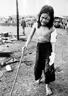 children caught in the middle of the vietnam war - Napalm bombs at Bien Hoa AB Vietnam