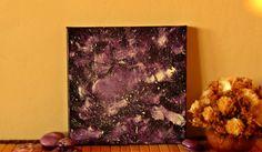 Galaxy painting galaxy art stars galaxy art by TheLuckyStones Galaxy Painting, Galaxy Art, Plum Room, Home Decor Items, Room Decor, Unique Jewelry, Handmade Gifts, Stars, Canvas