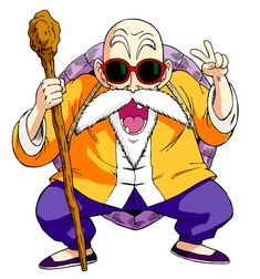 Master Roshi (also known as Turtle Hermit. True name Kamesennin). One of the most pervert characters ever created in an animated series. First appearance: Dragon Ball, season Dragon Ball Gt, Kawaii Dragon, Akira, Chibi, Dragons, Manga Dragon, Dbz Characters, Fan Art, Anime Comics