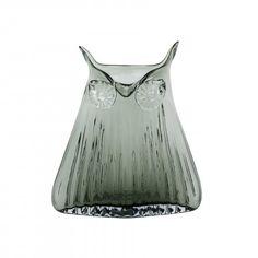 Magpie The Modern Home Vern Owl Vase Smoke Grey Large