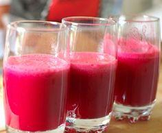 ¡Mezcla súper limpiadora! Este refrescante jugo constituye también un delicioso aperitivo sin alcohol.
