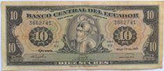 10 Sucres Ecuador 1968 Pick 114a