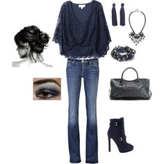 Love the lace blue shirt heidi style