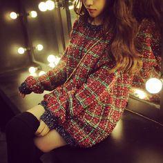 Fashion round neck long-sleeved sweater coat FG91901JV