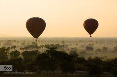 BALLOONS OVER BAGAN by LeslieTaylor  asia bagan burma hot air balloon mandalay myanmar places sunrise temples travel LeslieTaylor