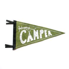 Happy Camper Wool Pennant Flag Wall Hanging Gift by strawberrymoth Happy Campers, Banner Printing, Screen Printing, Camping Room, Camping Tips, Camping Nursery, Camping Glamping, Camping Theme, Baby Room Wall Decor