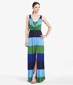 4b7975f724 BCBGMAXAZRIA London Stripe Slit Maxi Dress
