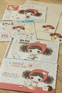 Kawaii Letter Set - Postage Stamp