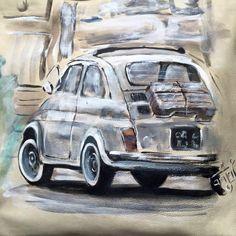 Fiat Cinquecento, Fiat 126, Vw Bus, Vespa, Old Cars, Bike, Vehicles, Inspiration, Disney