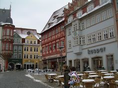 Coburg, Germany - part of the main square downtown