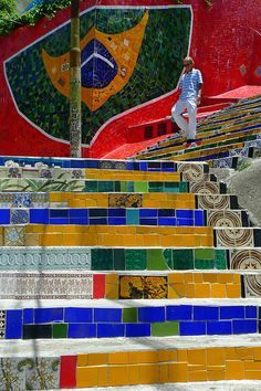 Selarón Stairs, Rio de Janeiro, Brazil On the list of places to see while in Rio.
