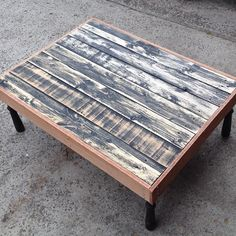 Power tool session yesterday made my balcony table from reclaimed pallet wood old pickets/balusters were cut in half from a staircase in an old nunnery just needs a coat of paint beachy style of course #paradisedreamscollaroy #paradise #dreams #collaroy #northernbeaches #recycle #repurpose #reuse #reclaim #timber #pallets #pickets #balusters #nunnery #balcony #furniture #powertool #session #ryobi #happy #beachy #beachstyle by paradisedreamscollaroy